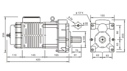 1 ton chain motor,chain hoist motor