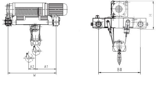 SH Double Girder Electrical Wire Rope Hoist