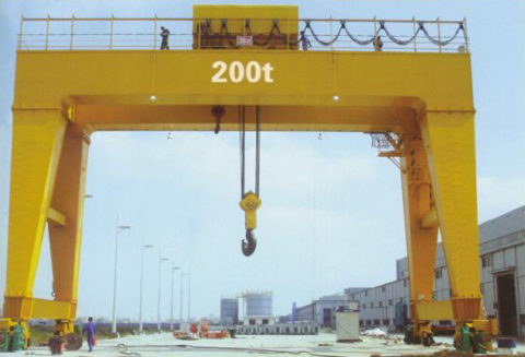200-400 ton heavy duty travelling overhead gantry crane with shield for sale